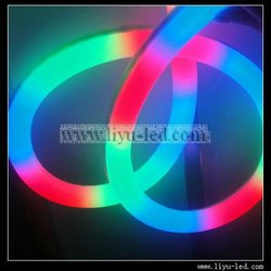 HOTEL BUILDING CONTOUR 24V 216LED/M rgb color changing neon flex with IC CHIP,Shanghai Liyu, #LY-WH-IC Meteor-24V