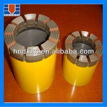 AQ BQ NQ HQ PQ Impregnated diamond core drill bits for hard rock