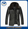 2015 new coming style warm winter man leather jacket with fur collar