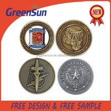 Newest Design Fashion Round Metal Coin
