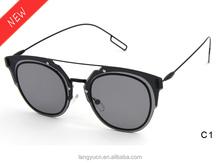Latest Unique Thin Templ Straight Lenses Frames Sunglasses LY1044