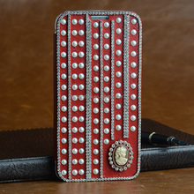 High quality fashionable style leather case for samsung s6