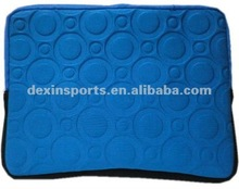 2012 Hot Selling Embossed Neoprene Bags (Sleeves) for Tablet PC with hiden strap (handle)