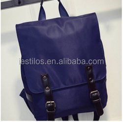2015 backpack new handbags fashion canvas Backpack straps decorated duplex double buckle trendy college bags