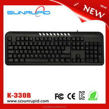 2015 Spanish Super Slim 105 and 9 Built-in Hot Keys Wired Multimedia Keyboard with USB connection