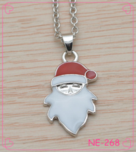 Foreign Trade Red And White Drip Santa Head Necklace Pendant Earrings Accessories