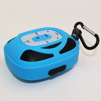 Solar powered keychain portable bluetooth bicycle speaker