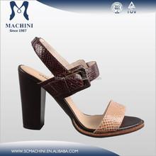 Tacón alto medio cuero de las mujeres de alibaba aliexpress zapatos