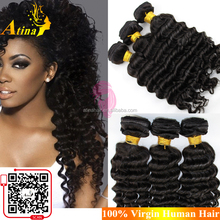 Wholesale Cambodian Deep Curly Hair Weaves 100% Unprocessed Virgin Human Hair Deep Wave Hairstyles For Black Women