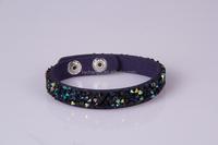 promotion trendy bracelet,leather bracelet 2015,crystal bracelet bangle