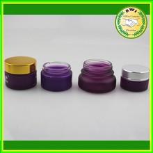 Glass Jar 30g amber cosmetic eye cream bottle