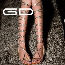 rubber sole sandals shoes golden sexy lady sandals boots zip women sandals