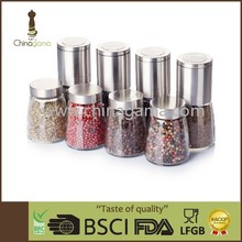 Stainless steel cap ceramic grinder 8 in 1 your select salt mill set
