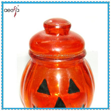 pumpkin shaped glass engraved candle holders Pumpkin shaped birthday cake candle holders