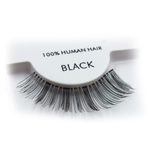 Faover wholesale hand made winged human hair lashes strip eyelash red cherry