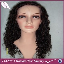 Long Layered Silk Straight Wave Monofilament Virgin Peruvian Kinky Curl Hair Wig