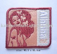 High quality embroidered patch with adhesive back/adhesive clothing patches