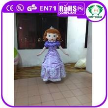 HI EN71 standard with good ventilation princess sofia mascot costume