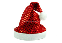 Christmas hat Gold sequins Santa hats,Beautiful and comfortable Festive & Party hats.Decoration Supplies