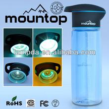 High End Plástico UV agua de la lámpara de la botella 750ML para el exterior