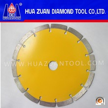 Yellow Dry Cutter Segmented Edge Cutting Saw Blade For Slab Edge Cutting Of Kinds Of Hard Stones