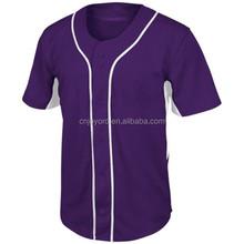 Chine personnalisé yankees marron violet baseball maillots