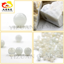 8.5mm half drill Smooth Round ball white natural moonstone beads
