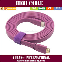 Flat Hdm i Cable Support 4k*2k 1080p,3d,Ethernet,Ideal For Home Theater,Hdtv,Ps3,Xbox And Set-top Boxes