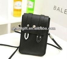 PU knit mobile phone bag