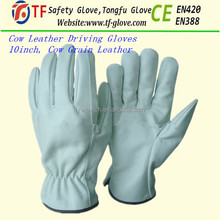 gloves work leather / short leather driving gloves / leather gloves for men