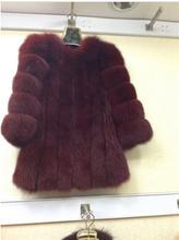 Women winter fur coat, fashion Fox Fur Coat