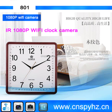 WIFI cctv hidden miniature mini pinhole Clock camera for Home safety with RJ45 WIFI Hidden mini CCTV camera