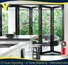 80 inchs high black outdoor folding door / folding garage door