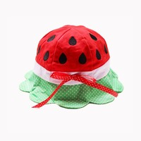 New Arrival Baby Kids WATERMELON Sun Hat Cap Red & Green Cute gift ONE SIZE FITS MOST