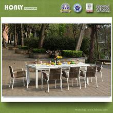 Leisure garden polycord chairs and tables aluminium chairs and extension table with tempered glass top