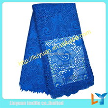 2015 new 100% polyester lace fabric fashion african wedding dresses fabric in Guangzhou