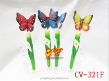 Fashion custome butterfly design good selling decorative ballpoint pens