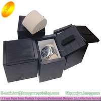 Customize Wooden watch box/leather watch box wooden watch counter display box
