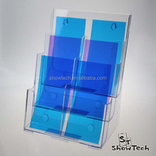 Wall mounted or table top 6 pockets office acrylic brochure holder display ST-BHDLx6P-03