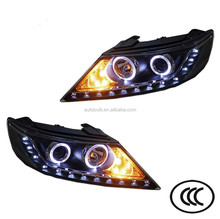 For KIA Sorento Car HeadLight HID DEPO with LED DRL Angel Eye BI-XENON HeadLamp