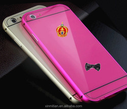 Hot sale golden stainless steel Metal fancy mobile case cover for iphone 5 5s