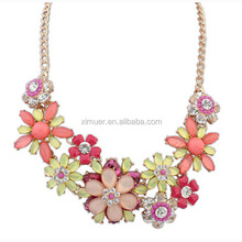 Wholesale fine necklace jewelry, Jelly crystal flower necklace