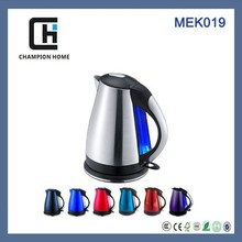 Champion home appliances 360 rotating CE/CB/GS approval MEK019 1.8L 1800w many colors available stainless steel electric kettle