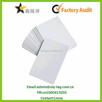 2014 PVC blank white card for print yourself/white blank sim card