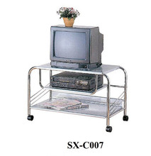 Home Living Room Metal TV Stand, Removable TV Stand Steel Tube