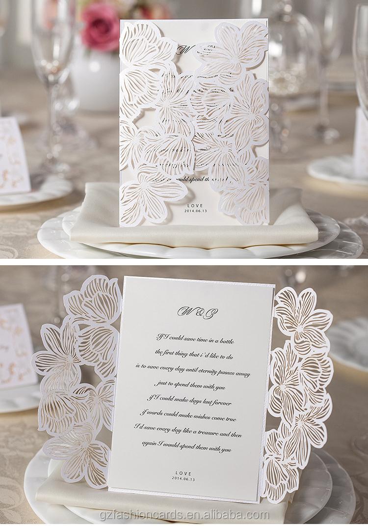 2015 Latest Design Elegant Cheap European Laser Wedding Card - Buy ...