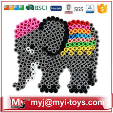 Direct selling children intellectual toys ironing beads hama bead pegboard animal patterns AT11A-1