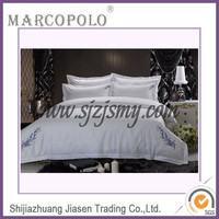 Luxury hotel bed linen/ star hote bed sheet /bed sheet in faisalabad