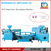 Jinjiang three color PVC slipper strap shoe upper disc injection moulding machine