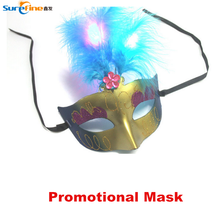 2015 Newest Party Led Glowing Feather Mask